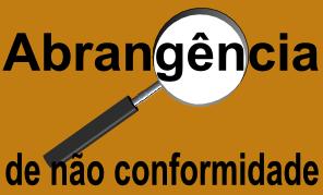Abrangência de não conformidade em Auditoria
