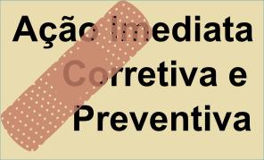 Ação Imediata, Ação Corretiva e Ação Preventiva