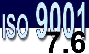 ISO 9001:2008 - 7.6. Controle de equipamento de monitoramento e medição