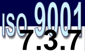 ISO 9001:2008 - 7.3.7. Controle de alterações de projeto e desenvolvimento