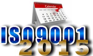 Calendário de transição da versão da ISO9001 2008 para a 2015
